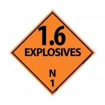 1.6 Explosive N 1 DOT Placard (#DL45)