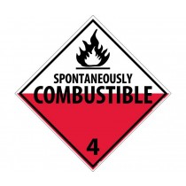 Spontaneously Combustible Class 4 DOT Placard (#DL48)