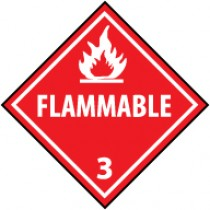 Flammable Liquid DOT Shipping Label (#DL4AP)