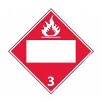 Flammable Class 3 Blank DOT Placard (#DL4B)