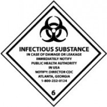Infectious Substance… DOT Shipping Label (#DL53AP)