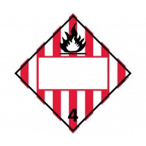 Flammable Solid Class 4 Blank DOT Placard (#DL62B)