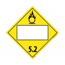 Organic Peroxide 5.2 Class 5 Blank DOT Placard (#DL63B)