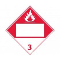 Flammable Class 3 Blank DOT Placard (#DL65B)