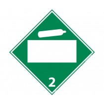 Non-Flammable Gas Class 2 Blank DOT Placard (#DL6B)