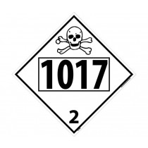 Chlorine Poison / Toxic Gas Permanent 4-Digit Placard (#DL72)