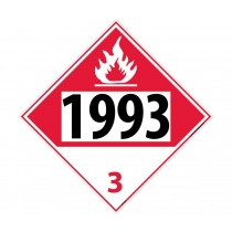 Flammable Liquid, Combustible Liquid Permanent 4-Digit Placard (#DL73)