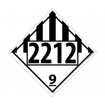 Asbestos Permanent 4-Digit Placard (#DL82)