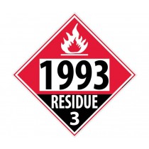 Combustible Liquid, Residue Permanent 4-Digit Placard (#DL84)