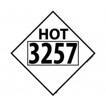 Hot Permanent 4-Digit Placard (#DL85)