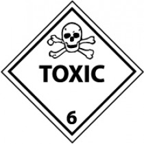 Toxic DOT Shipping Label (#DL87AP)