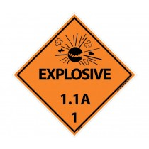 Explosive 1.1A DOT Placard (#DL88)