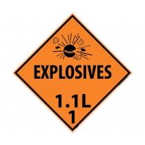 Explosives 1.1L 1 DOT Placard (#DL89)