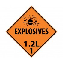 Explosives 1.2L 1 DOT Placard (#DL91)