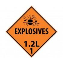 Explosives 1.2L 1 DOT Placard (#DL91)