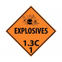 Explosives 1.3C 1 DOT Placard (#DL92)
