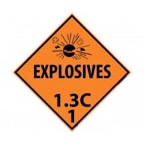 Explosives 1.3C 1 DOT Placard (#DL92)