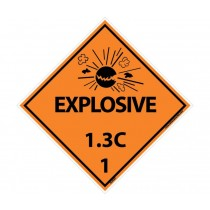Explosive 1.3C DOT Placard (#DL93)