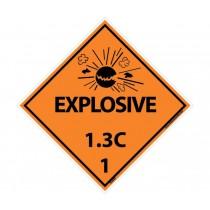 Explosive 1.3C DOT Placard (#DL93)