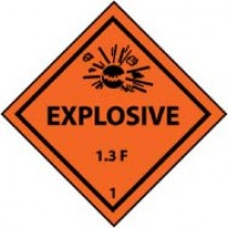 Explosive 1.3F DOT Shipping Label (#DL96AP)