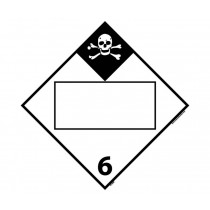 Poisonous and Infectious Substances Class 6 Blank DOT Placard (#DL98B)
