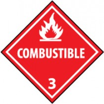 Combustible DOT Shipping Label (#DL9AP)