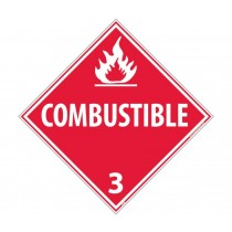 Combustible Class 3 DOT Placard (#DL9)