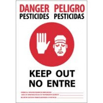 Danger Pesticides Keep Out Spanish Sign (#DPSA1)