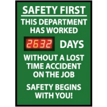 Safety First This Department... Digital Scoreboard (#DSB1)