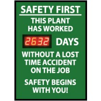 Safety First This Plant Has... Digital Scoreboard (#DSB3)