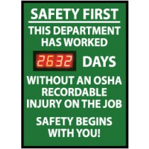 Safety First This Department... Digital Scoreboard (#DSB4)