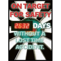 On Target For Safety Digital Scoreboard (#DSB51)