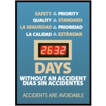 Safety Is The Priority, Quality Is... Digital Scoreboard (#DSB54)