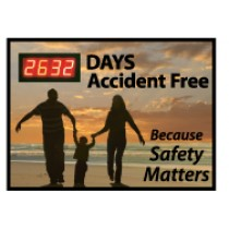 Days Accident Free Because Safety Matters Digital Scoreboard (#DSB57)