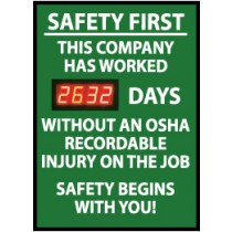 Safety First This Company... Digital Scoreboard (#DSB5)