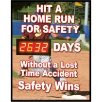 Hit A Homerun For Safety Digital Scoreboard (#DSB60)