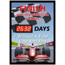 Finish Your Day Without An Accident Digital Scoreboard (#DSB63)