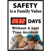 Safety Is A Family Value Digital Scoreboard (#DSB65)
