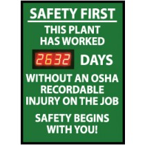Safety First This Plant Has... Digital Scoreboard (#DSB6)