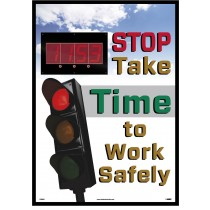 Stop Take Time to Work Safely Digital Scoreboard (#DSB801)