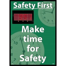 Safety First Make time for Safety Digital Scoreboard (#DSB803)
