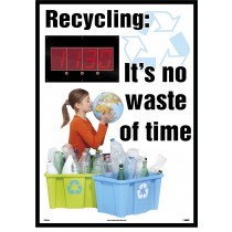 Recycling: It's no waste of time Digital Scoreboard (#DSB804)