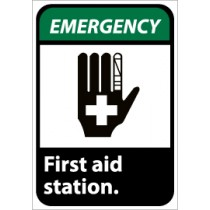 Emergency First aid station ANSI Sign (#EGA3)