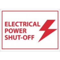 Electrical Power Shut-Off Machine Label (#EPA1AP)