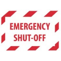 Emergency Shut-Off Machine Label (#EPA2AP)