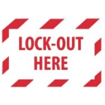 Lock-Out Here Machine Label (#EPA3AP)