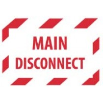 Main Disconnect Machine Label (#EPA5AP)
