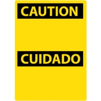Caution (Blank) Spanish Machine Label (#ESC1AP)
