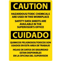 Caution Hazardous/Toxic Chemicals Are Used… Spanish Sign (#ESC308)