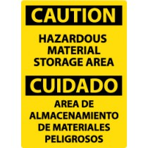 Caution Hazardous Material Storage Area Spanish Sign (#ESC310)